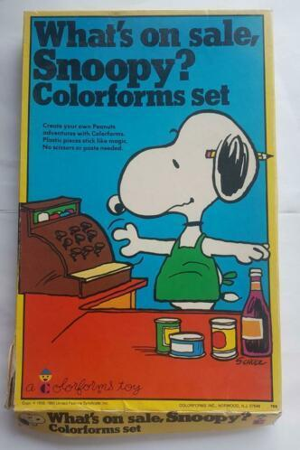 What's on sale, Snoopy? Colorforms set 1966 ZELDZAAM