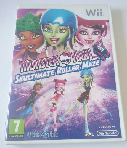 Monster High Skultimate Roller Maze Wii spel incl. boekje