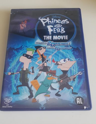 Phineas and Ferb The Movie Disney DVD Dwars door de 2de Dimensie